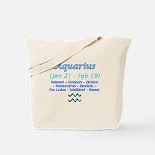 Aquarius Description Tote Bag