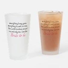 Cute Bride to be Drinking Glass