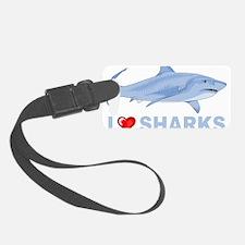 I Love Sharks Luggage Tag