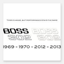 "Mustang Boss 302 Square Car Magnet 3"" x 3"""