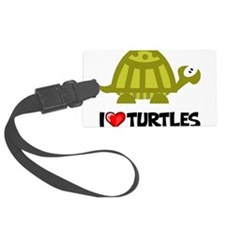 I Love Turtles Luggage Tag