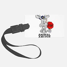 Stop Animal Abuse Luggage Tag