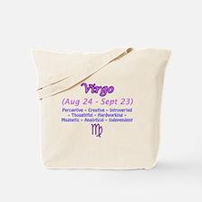 Virgo Description Tote Bag