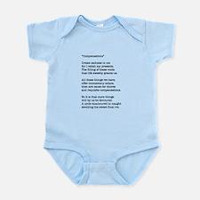 Compensations A Poem By Joe Monica Infant Bodysuit