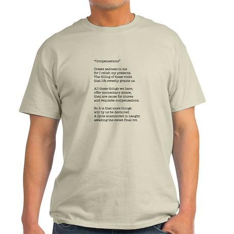 Compensations A Poem By Joe Monica Light T-Shirt