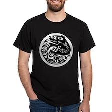 Bear & Fish Native American Design T-Shirt