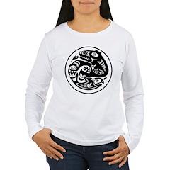 Bear & Fish Native American Design Women's Long Sl