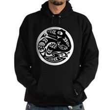 Bear & Fish Native American Design Hoodie