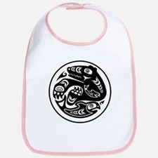 Bear & Fish Native American Design Bib