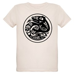 Bear & Fish Native American Design T-Shirt