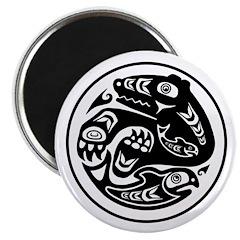 Bear & Fish Native American Design Magnet