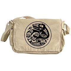 Bear & Fish Native American Design Messenger Bag