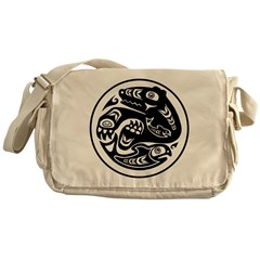 Bear & Fish Native American Design Messenger Bag