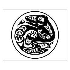 Bear & Fish Native American Design Posters