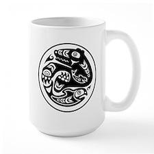 Bear & Fish Native American Design Mug
