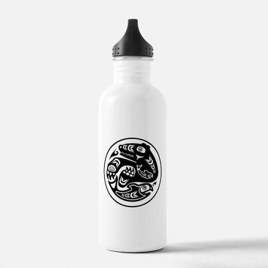 Bear & Fish Native American Design Water Bottle