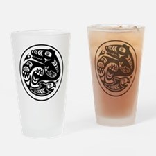 Bear & Fish Native American Design Drinking Glass