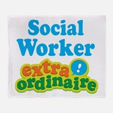 Social Worker Extraordinaire Throw Blanket