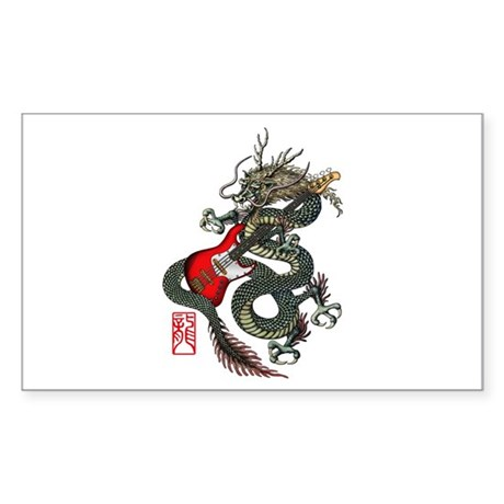 Dragon Bass 01 Sticker (Rectangle)