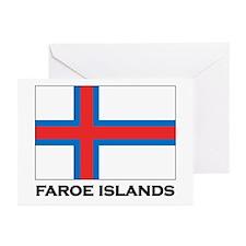The Faroe Islands Flag Stuff Greeting Cards (Packa