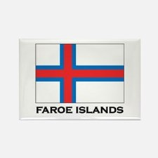 The Faroe Islands Flag Stuff Rectangle Magnet