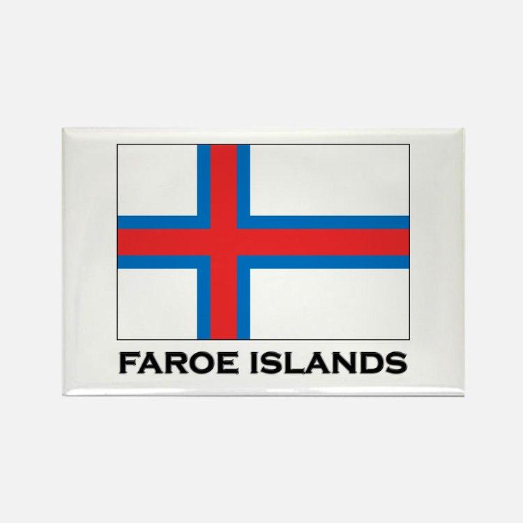 The Faroe Islands Flag Stuff Rectangle Magnet