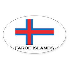 The Faroe Islands Flag Stuff Oval Decal