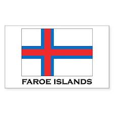 The Faroe Islands Flag Stuff Rectangle Decal
