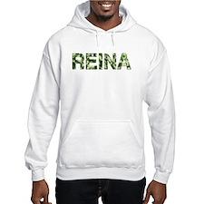 Reina, Vintage Camo, Hoodie Sweatshirt