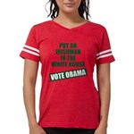 voteobama_10x10.png Womens Football Shirt