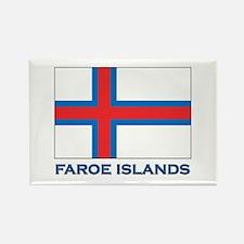 The Faroe Islands Flag Gear Rectangle Magnet
