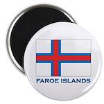 The Faroe Islands Flag Gear Magnet