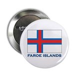 The Faroe Islands Flag Gear Button