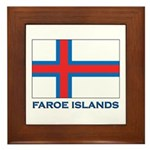 The Faroe Islands Flag Gear Framed Tile