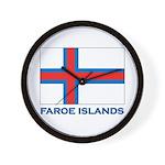 The Faroe Islands Flag Gear Wall Clock