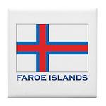 The Faroe Islands Flag Gear Tile Coaster