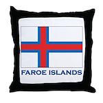 The Faroe Islands Flag Gear Throw Pillow