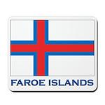 The Faroe Islands Flag Gear Mousepad