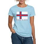 The Faroe Islands Flag Gear Women's Pink T-Shirt