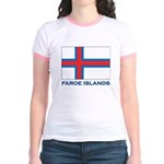 The Faroe Islands Flag Gear Jr. Ringer T-Shirt