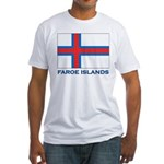 The Faroe Islands Flag Gear Fitted T-Shirt