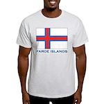 The Faroe Islands Flag Gear Ash Grey T-Shirt