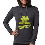 voteobama_dark.pn... Womens Hooded Shirt