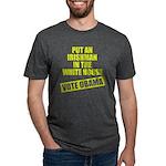 voteobama_dark.pn... Mens Tri-blend T-Shirt