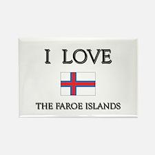 I Love The Faroe Islands Rectangle Magnet