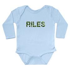 Riles, Vintage Camo, Long Sleeve Infant Bodysuit