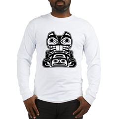 Beaver Native American Design Long Sleeve T-Shirt