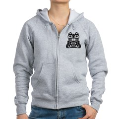 Beaver Native American Design Zip Hoodie