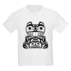 Beaver Native American Design Kids Light T-Shirt