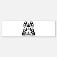Beaver Native American Design Bumper Bumper Sticker